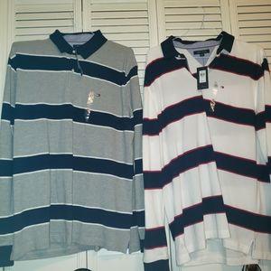 2 nwt Tommy Hilfiger polo style shirts~Xl